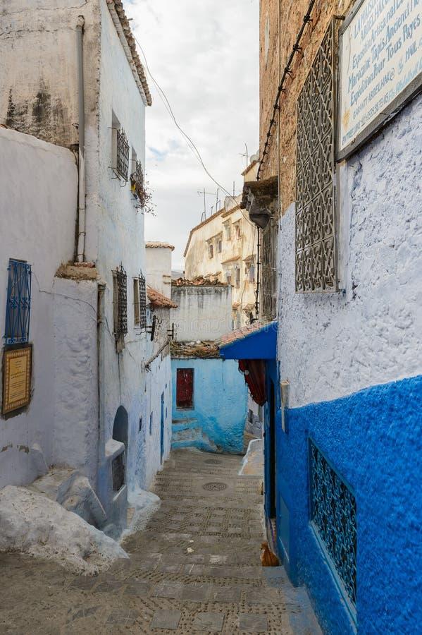 Arquitectura de Chefchaouen, Marruecos foto de archivo