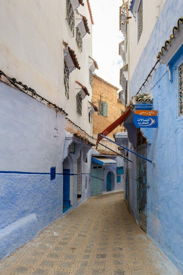 Arquitectura de Chefchaouen, Marruecos fotografía de archivo libre de regalías