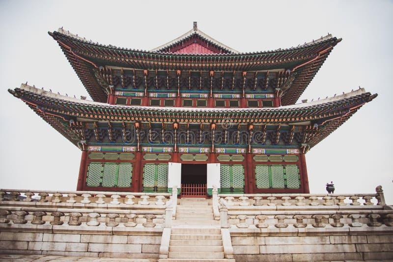 Arquitectura de Corea, palacio fotografía de archivo libre de regalías
