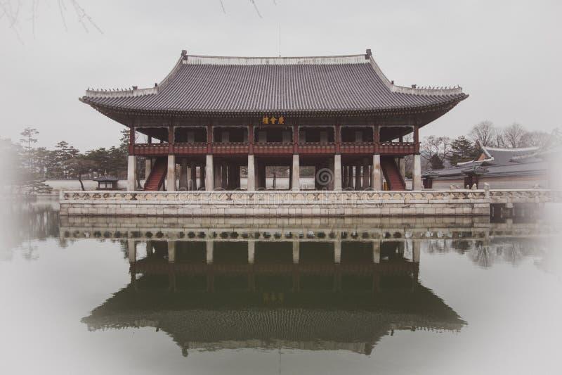 Arquitectura de Corea, palacio fotos de archivo