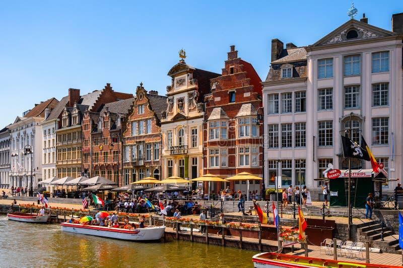 Arquitectura de Gante, Bélgica imagen de archivo libre de regalías