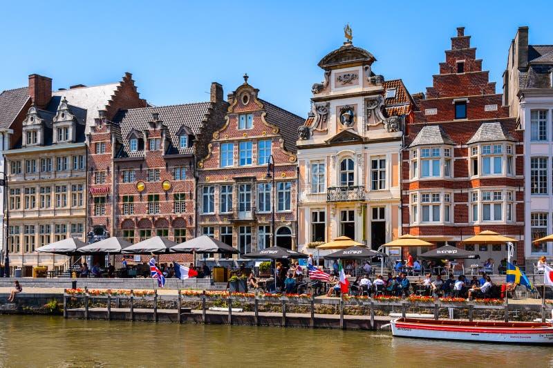Arquitectura de Gante, Bélgica fotografía de archivo libre de regalías