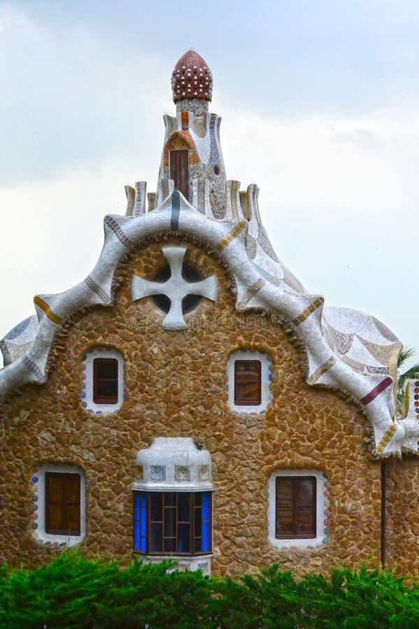 Arquitectura de Gaudis en el parque Guell foto de archivo libre de regalías