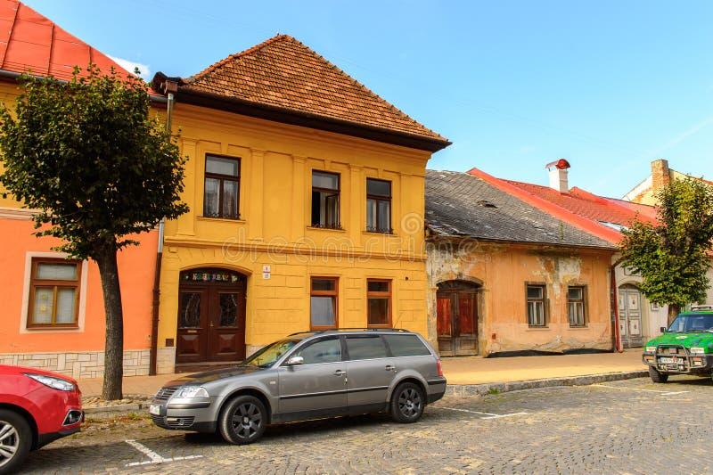 Arquitectura de Kezmarok, Eslovaquia, fotografía de archivo libre de regalías