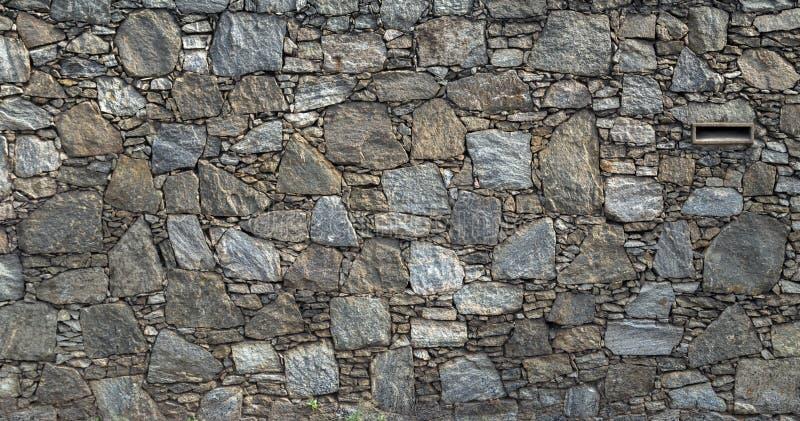 Arquitectura de la cerca de la textura de la pared de piedra del vintage imagen de archivo libre de regalías