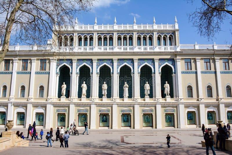 Arquitectura de la ciudad de Baku, edificio histórico viejo foto de archivo