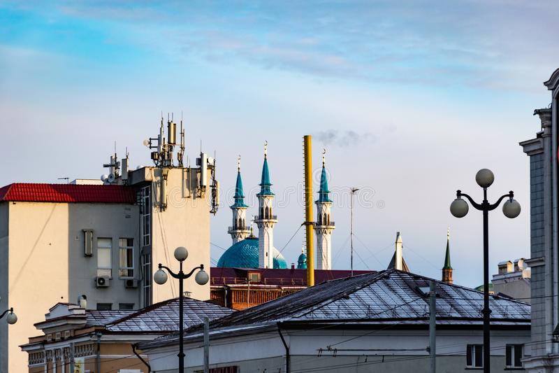 Arquitectura de la ciudad de Kazán fotografía de archivo libre de regalías