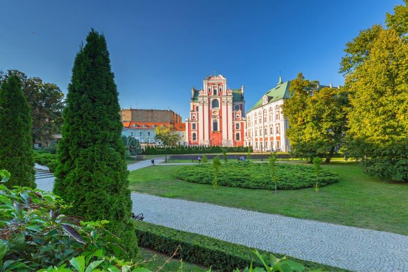 Arquitectura de la ciudad vieja en Poznán, Polonia foto de archivo