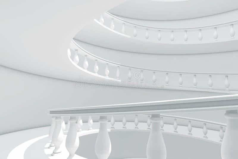 Arquitectura de la manera clásica de la barandilla del espiral del estilo entre la Florida stock de ilustración