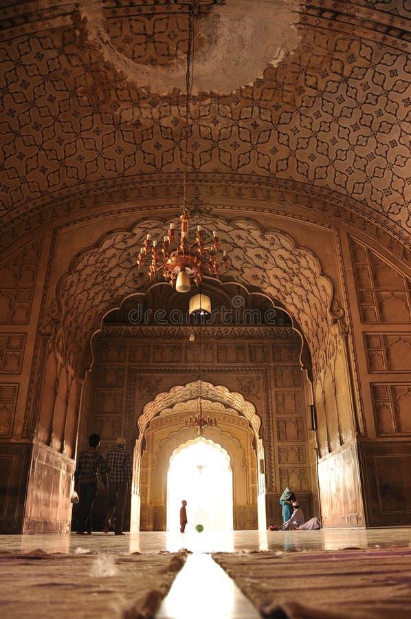 Arquitectura de la mezquita de Badshahi, Lahore foto de archivo libre de regalías