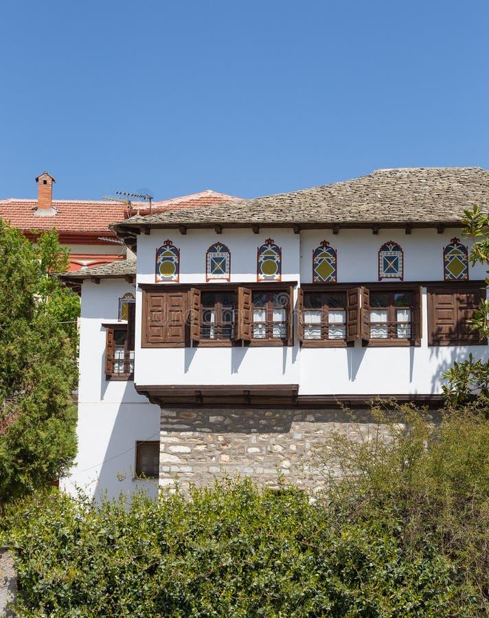 Arquitectura de la región del soporte de Pelion, Thessaly, Grecia foto de archivo libre de regalías