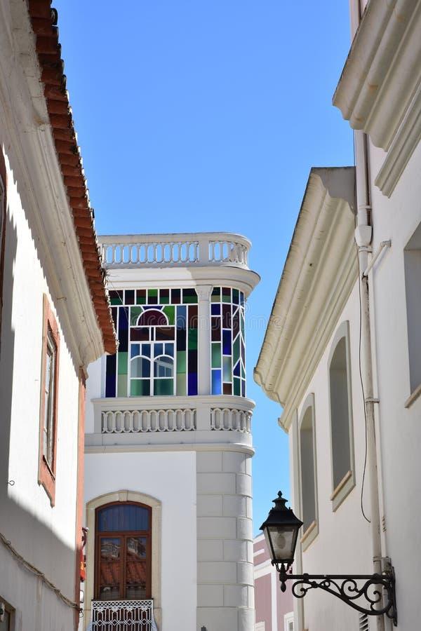 Arquitectura de los edificios, Algarve, Portugal fotos de archivo