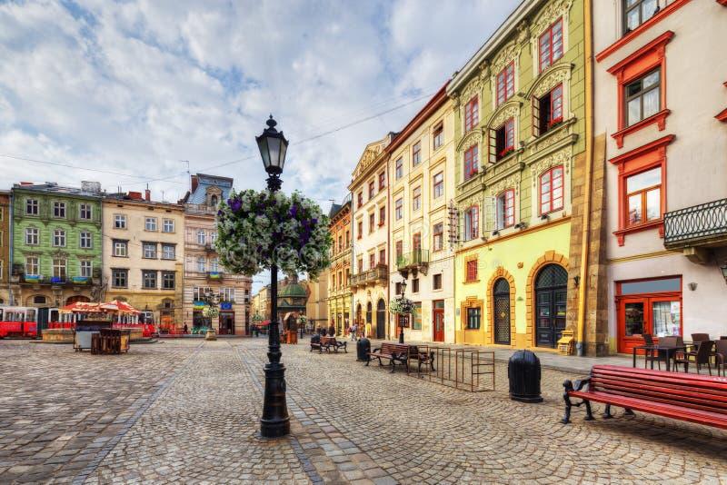 Arquitectura de Lviv ucrania imagenes de archivo