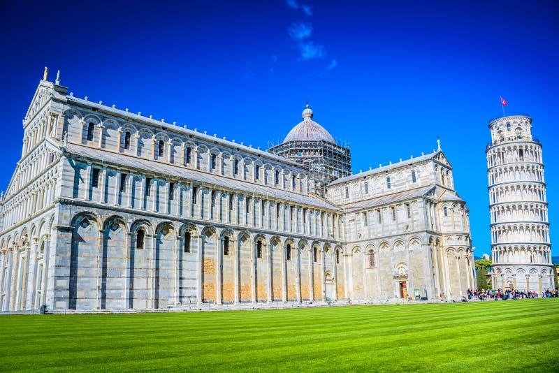Arquitectura de mármol en Pisa, Italia fotos de archivo
