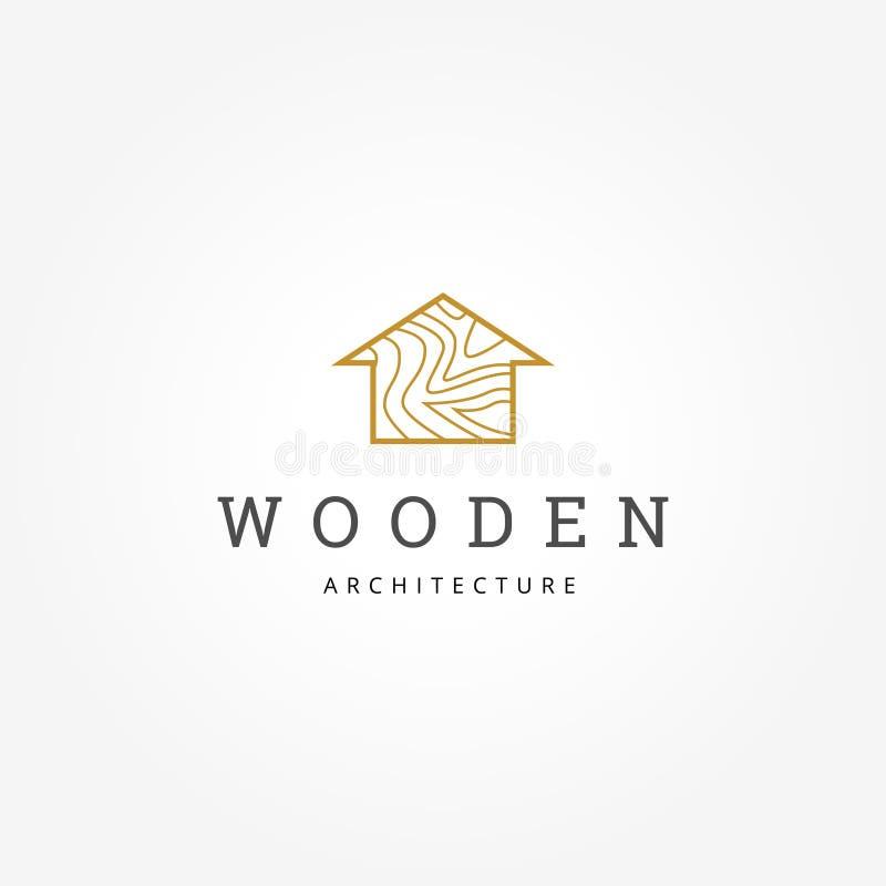 Arquitectura de madera Logo Sign Symbol Icon de la casa stock de ilustración