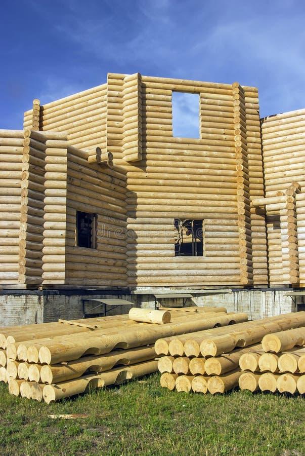 Arquitectura de madera rural foto de archivo