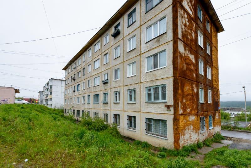 Arquitectura de Magada, Federación Rusa imagen de archivo libre de regalías