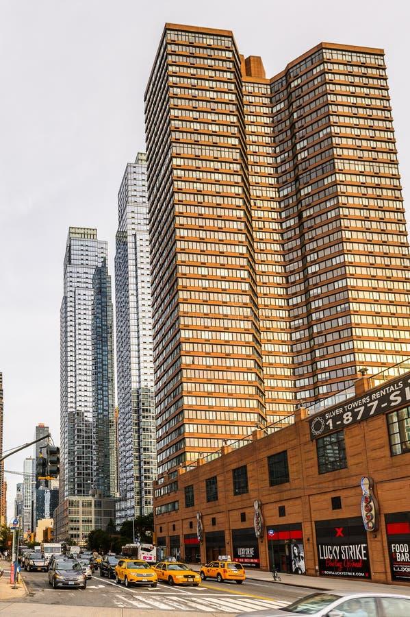 Arquitectura de Manhattan, Nueva York, los E.E.U.U. fotos de archivo libres de regalías