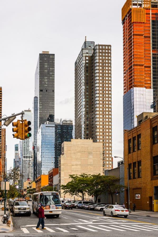 Arquitectura de Manhattan, Nueva York, los E.E.U.U. fotografía de archivo libre de regalías