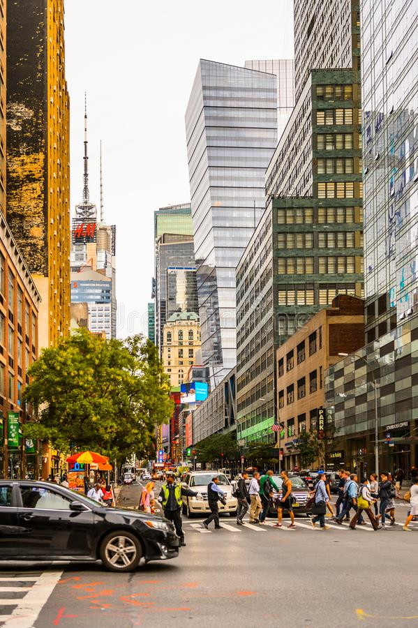 Arquitectura de Manhattan, Nueva York, los E.E.U.U. imagen de archivo