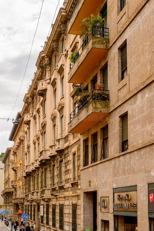 Arquitectura de Milán, Italia foto de archivo