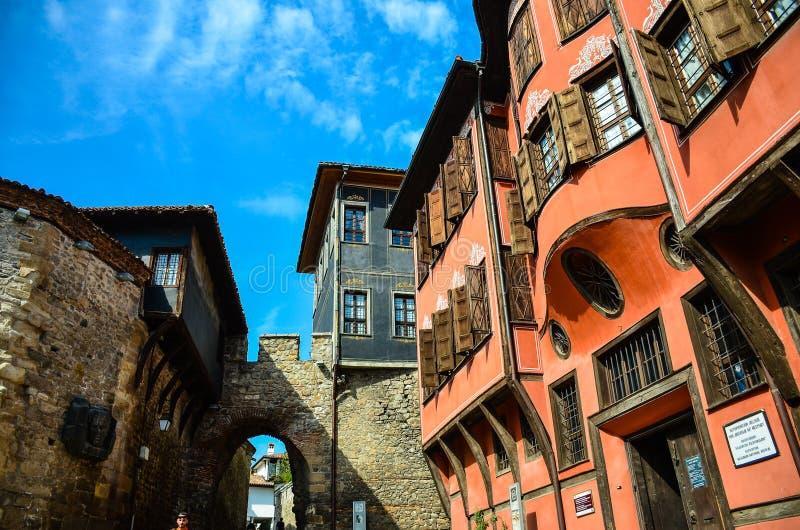 Arquitectura de Plovdiv fotos de archivo