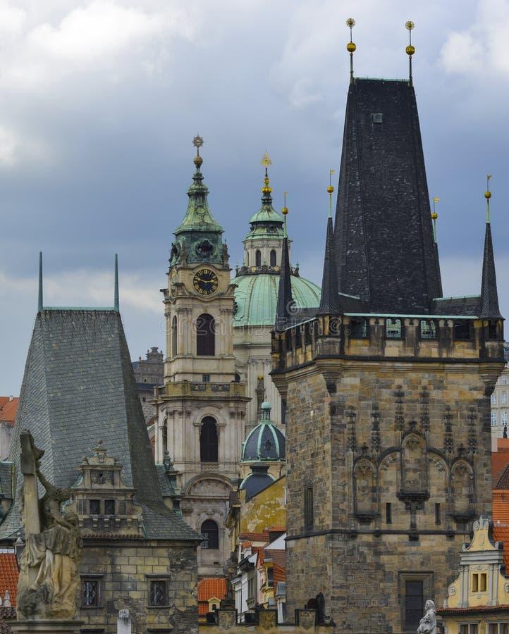 Arquitectura de Praga imagen de archivo libre de regalías