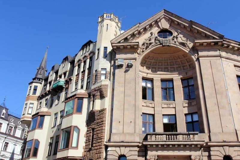 Arquitectura de Riga, Letonia imagen de archivo