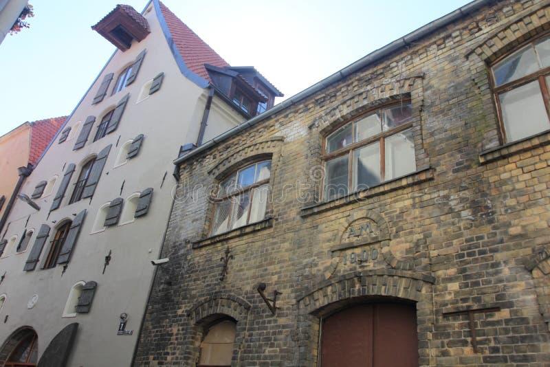 Arquitectura de Riga, Letonia imagen de archivo libre de regalías