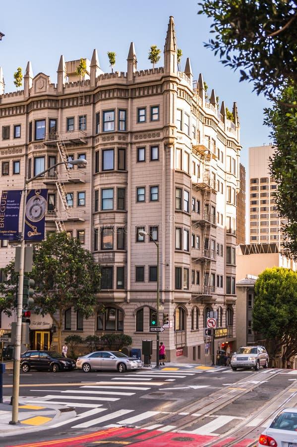 Arquitectura de San Francisco, los E.E.U.U. imagen de archivo