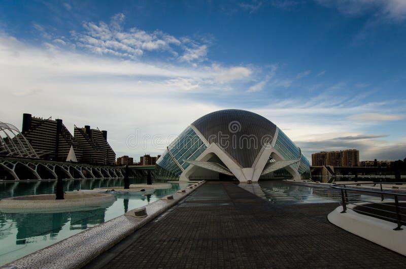 Arquitectura de Valencia, España imagen de archivo