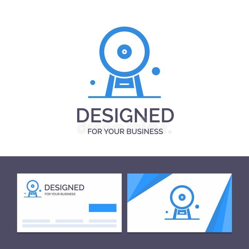 Arquitectura de visita de la plantilla creativa de la tarjeta y del logotipo, Inglaterra, Ferris Wheel, señal, London Eye, ejempl libre illustration