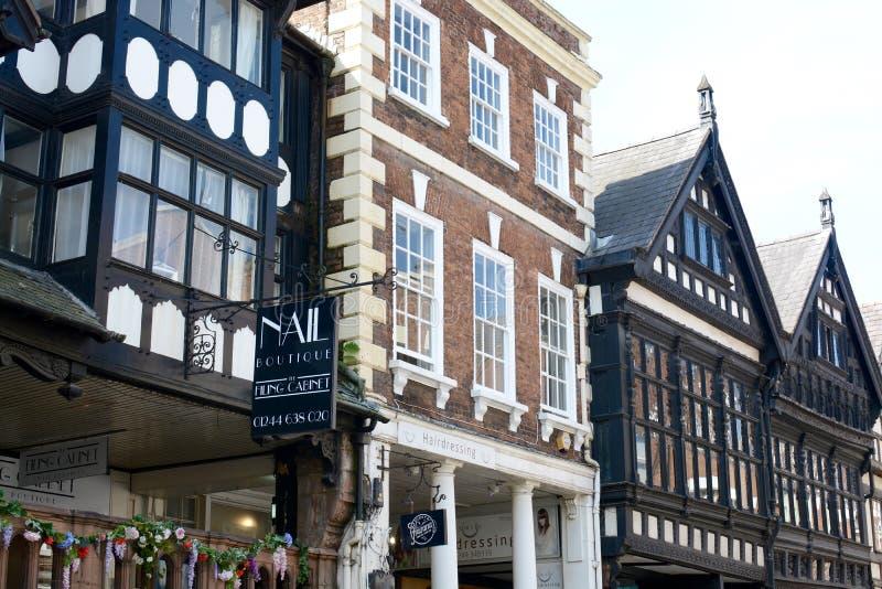Arquitectura del centro de ciudad de Chester imagen de archivo libre de regalías