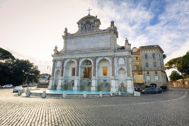Arquitectura del dell Acqua Paola de fontana en Roma, Italia fotografía de archivo libre de regalías