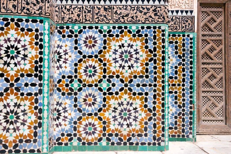 Arquitectura del detalle del mosaico fotografía de archivo libre de regalías