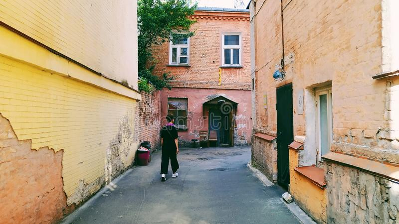 arquitectura del edificio de la ciudad de Kiev fotografía de archivo libre de regalías