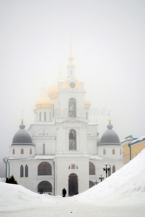 Arquitectura del Kremlin en la ciudad de Dmitrov, región de Moscú, Rusia foto de archivo libre de regalías