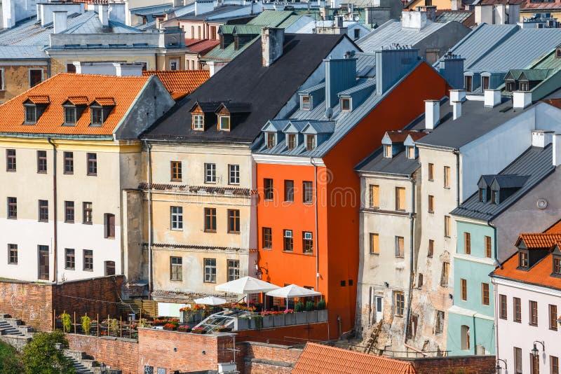Arquitectura en ciudad vieja en Lublin, Polonia imagen de archivo libre de regalías