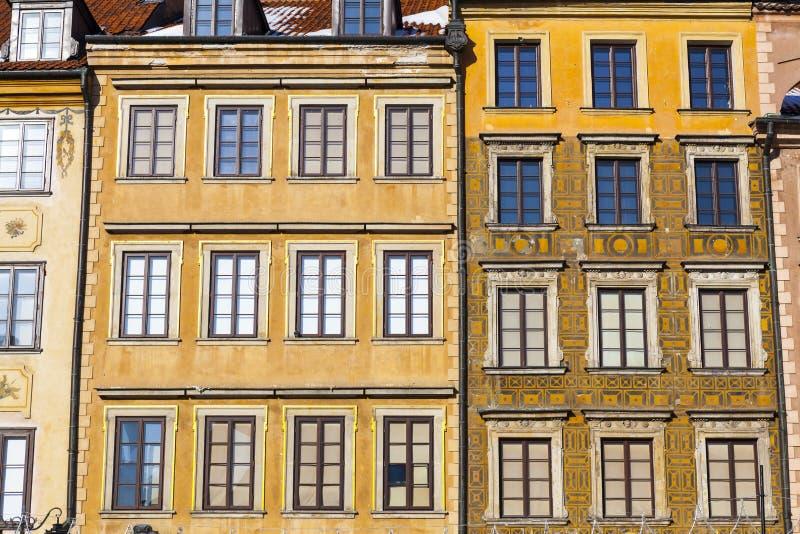 Arquitectura en la ciudad vieja de Varsovia fotos de archivo libres de regalías