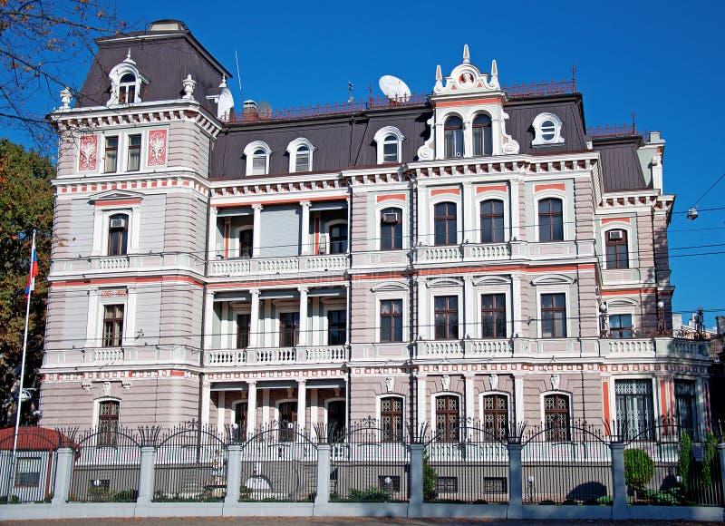 Arquitectura en Riga, Letonia foto de archivo