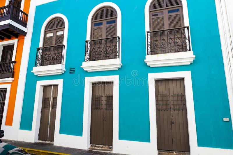 Arquitectura en San Juan foto de archivo libre de regalías