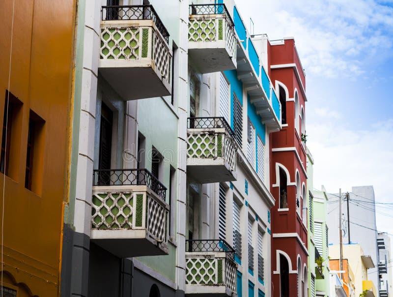 Arquitectura en San Juan imagen de archivo