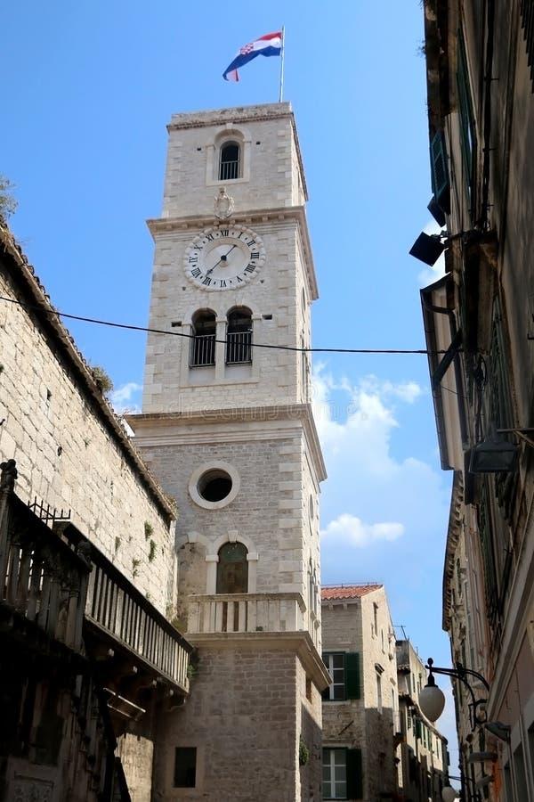 Arquitectura en Sibenik, Croacia imagenes de archivo