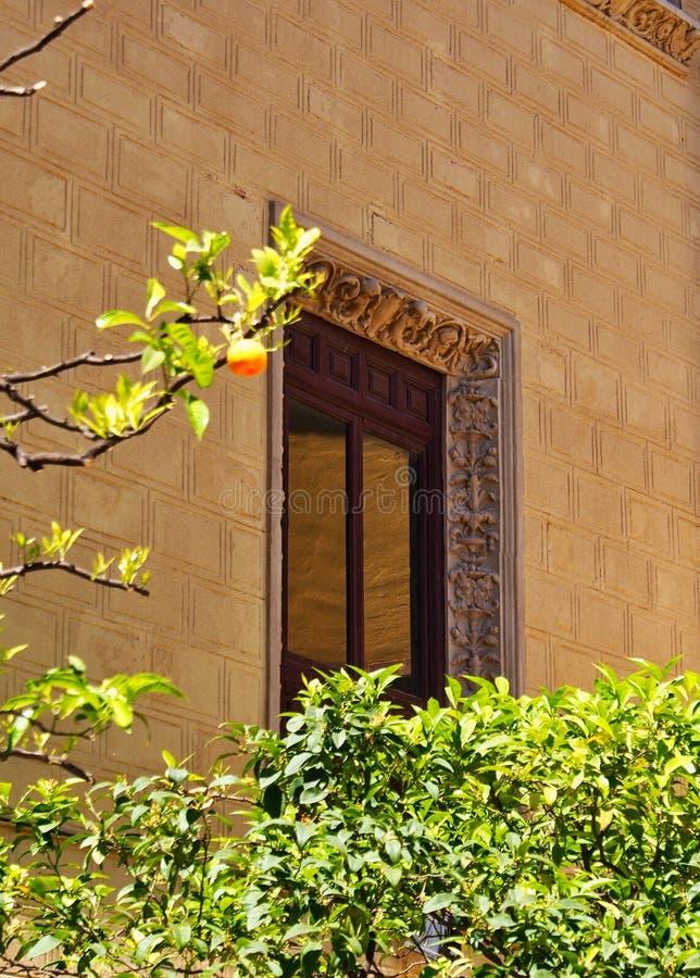 Arquitectura española tradicional, pueblo Espana, Barcelona, España fotografía de archivo libre de regalías