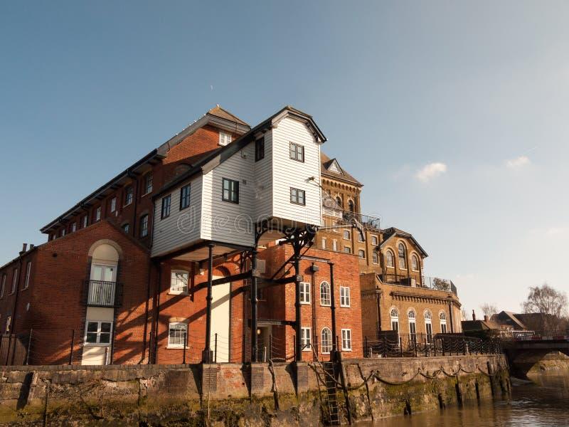 Arquitectura famosa del viejo de agua de Colchester del molino estado grande de la casa foto de archivo