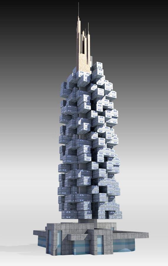 Arquitectura futurista de la ciudad ilustración del vector