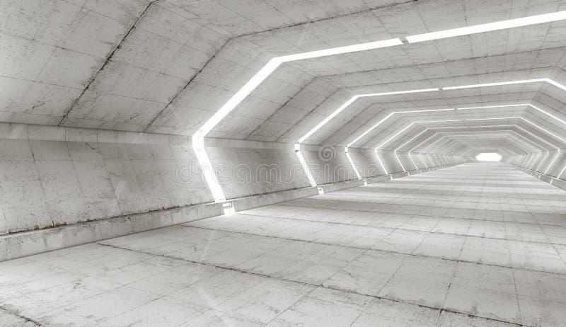 Arquitectura futurista del pasillo foto de archivo libre de regalías