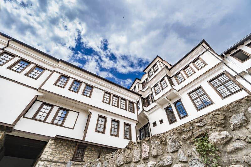 Arquitectura genérica de la casa tradicional del Urania en Macedonia foto de archivo libre de regalías