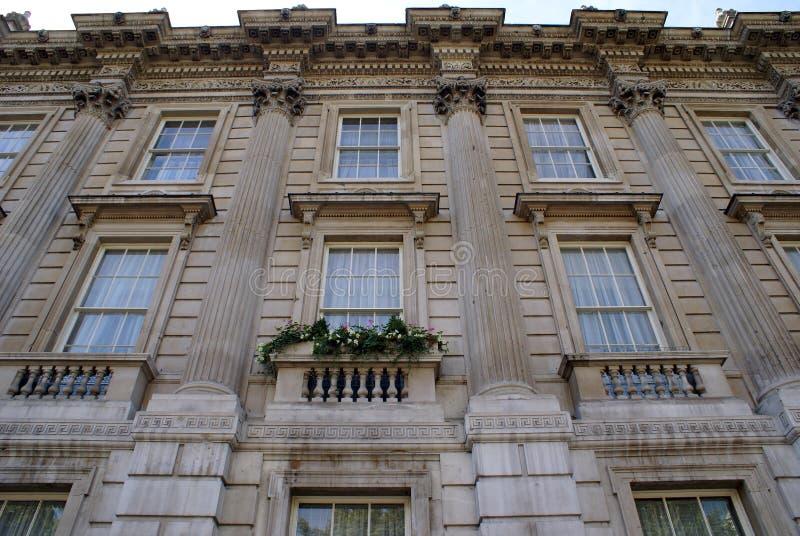 Arquitectura georgiana adornada fotografía de archivo libre de regalías