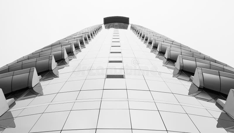 Arquitectura hermosa blanco y negro del edificio imagen de archivo